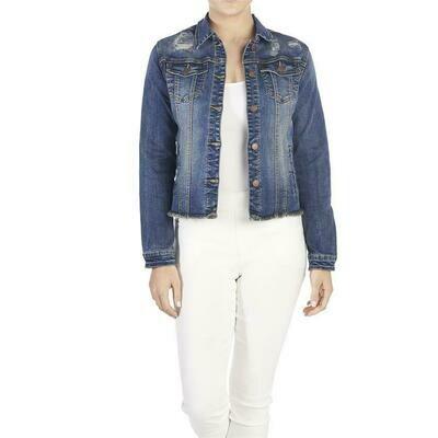 Coco & Carmen-OMG Distressed Denim Jacket - L/XL