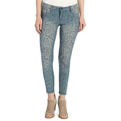 Coco & Carmen-Reversible Jeans-Denim/Blue Ditsy Floral - L/XL