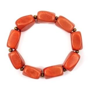 Tagua-Anbel Bracelet-Poppy Coral