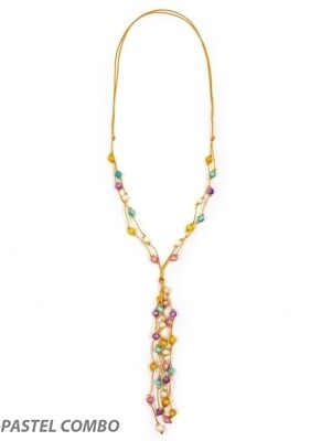 Tagua-Alanis Necklace-Pastel Combo