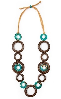 Tagua_Blanca Necklace Turquoise-LC963-TQ