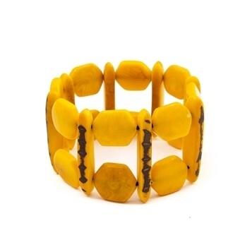 Tagua_Loli bracelet Yellow-IB631-am