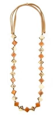 Tagua-Monserrat Necklace-Orange Ivory
