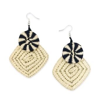Tagua-Nova Earrings-Ivory Black