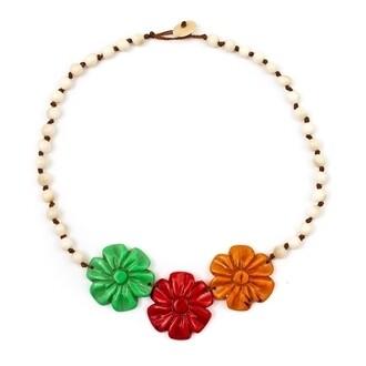 Tagua-Rosy Necklace-Multi