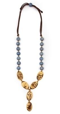 Tagua - Perla Necklace Biscayne Bay Lake Blue Ivory