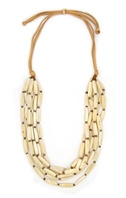 Tagua-Nancy Necklace-Ivory