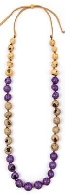 Tagua - Natasha Necklace Purple