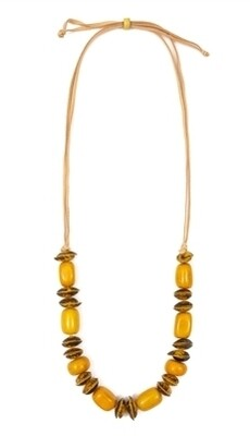 Tagua-Ximena Necklace-Yellow