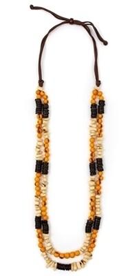 Tagua-Sharda Necklace-Yellow Ivory