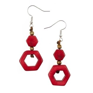 Tagua-Tania Earrings-Red