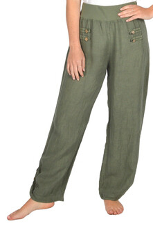 Catherine Lillywhite's-Linen Pants-Green
