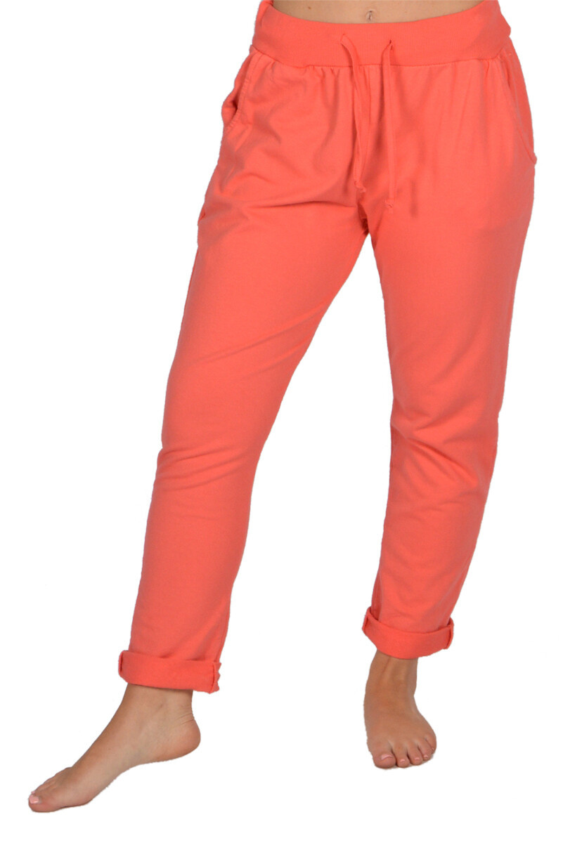 CLW-Coral Rolled Cuff Pants