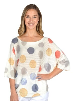 Catherine Lilywhite's-Multicolored Polka Dot Printed Sweater