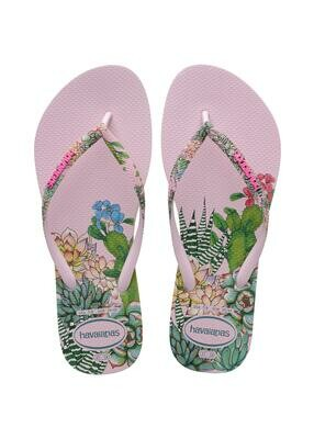 Havaianas Slim Sensation Flip Flops (Size 5/6) - Crystal Rose