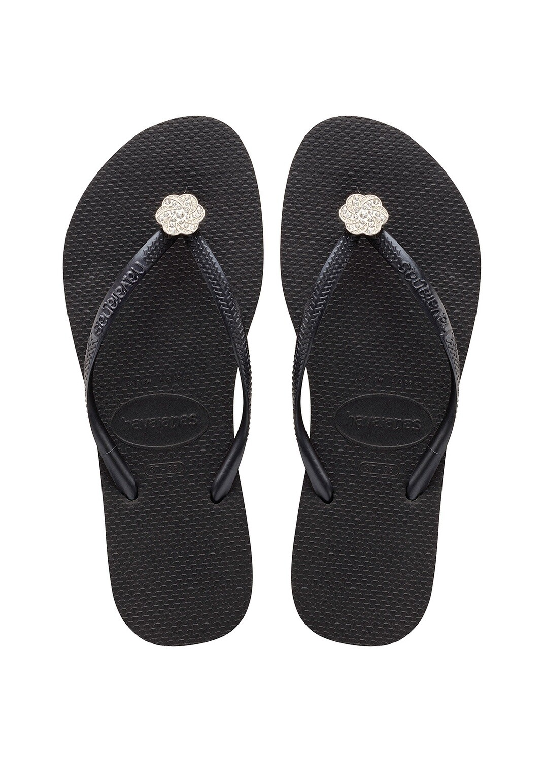 Havaiana_SLIM CRYSTAL POEM Sandal_ BLACK/METALLIC DARK GREY_390