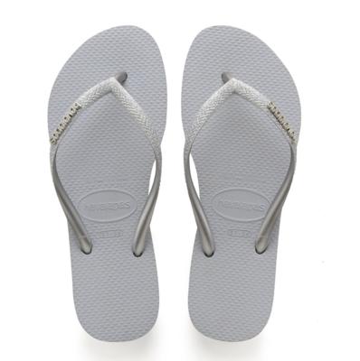 Havaianas - Slim Glitter Flip Flops (Size 7/8) - Steel Grey