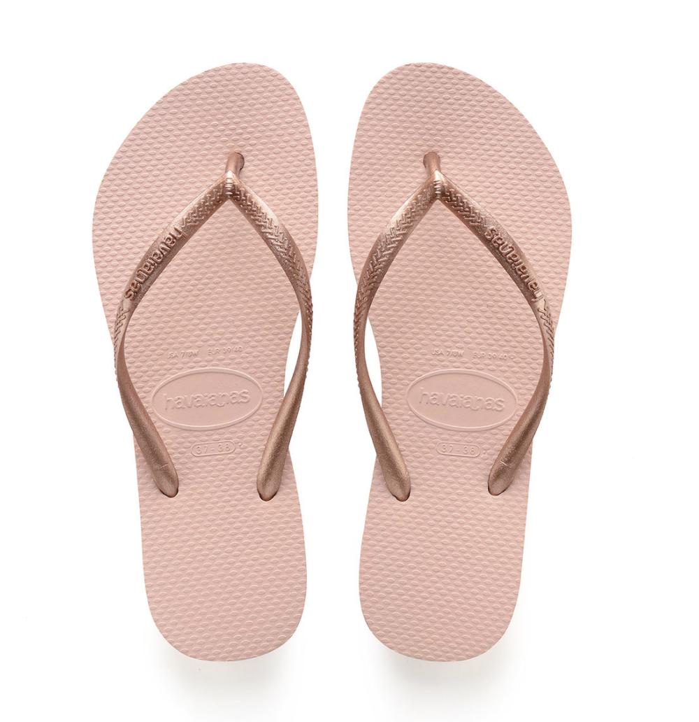 Havaianas Slim Flip Flops (Size 11/12) - Ballet Rose