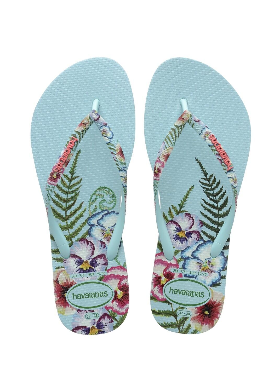 Havaianas Slim Sensation Flip Flops (Size 11/12) - Ice Blue