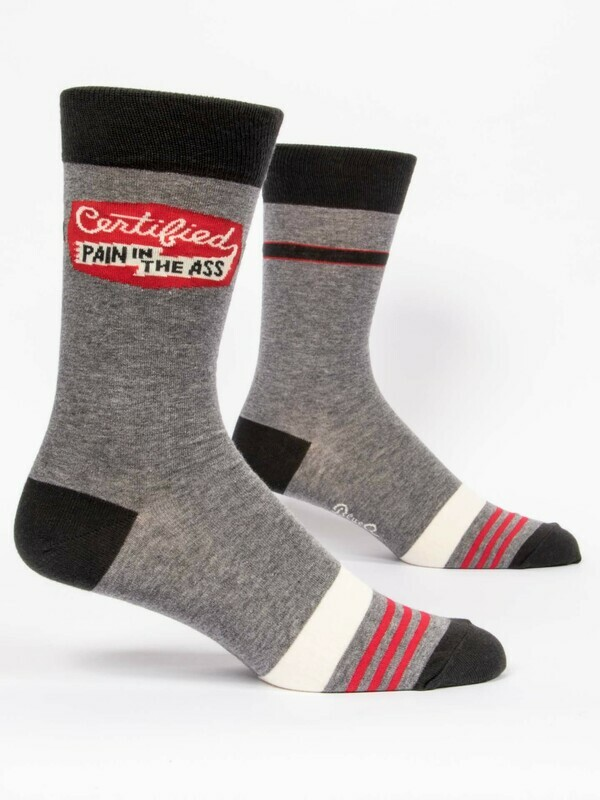 Blue Q Mens Socks - Certified Pain in the Ass