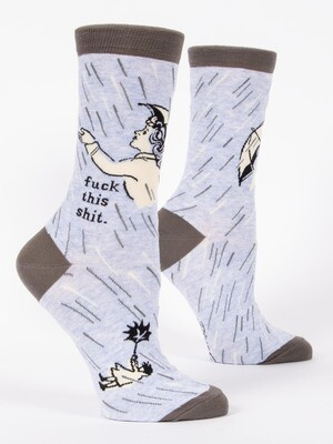 Blue Q Crew Socks - Fuck This Shit