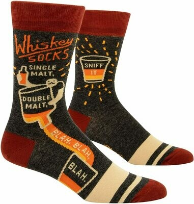Blue Q Men's Socks - Whiskey Socks. Single Malt. Double Malt