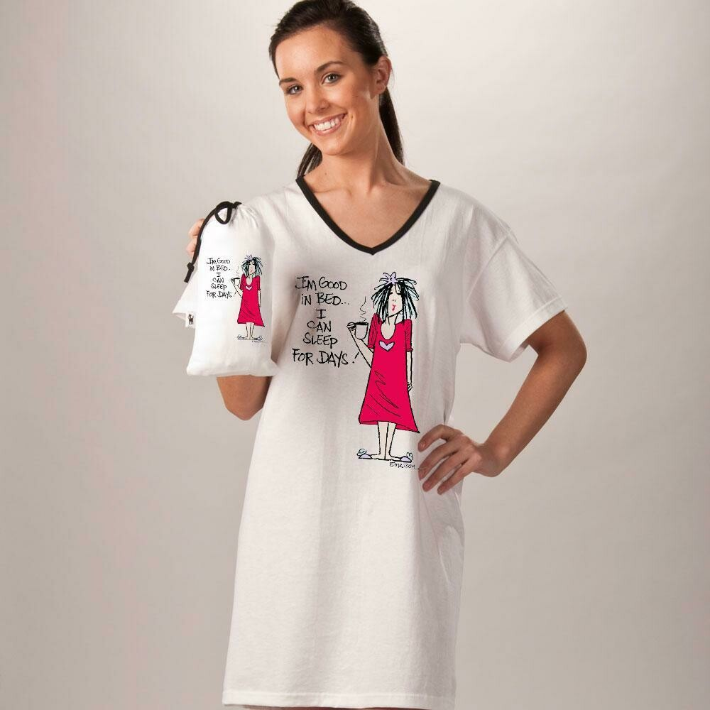 Nightshirt in a Bag - I'm Good in Bed…