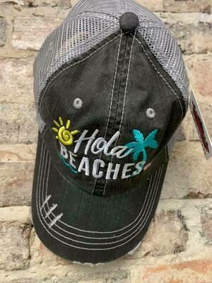 Katydid Hat-  Hola Beaches Trucker Hat