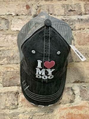 Katydid Hat-I Love My Dog Trucker Hat