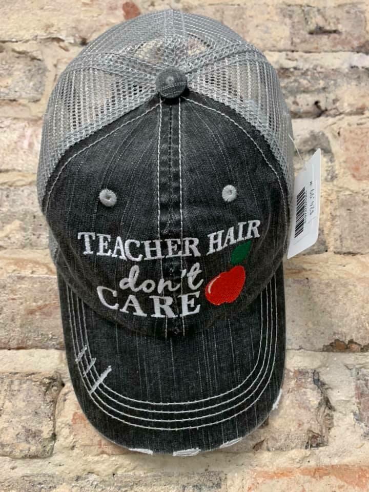 Hat - Teacher Hair Don't Care Trucker Hat