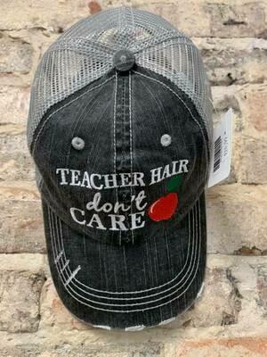 Hat-  Teacher Hair Don't Care Trucker Hat