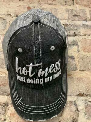 Katydid Hat-Hot Mess Just Doing My Best Trucker Hat