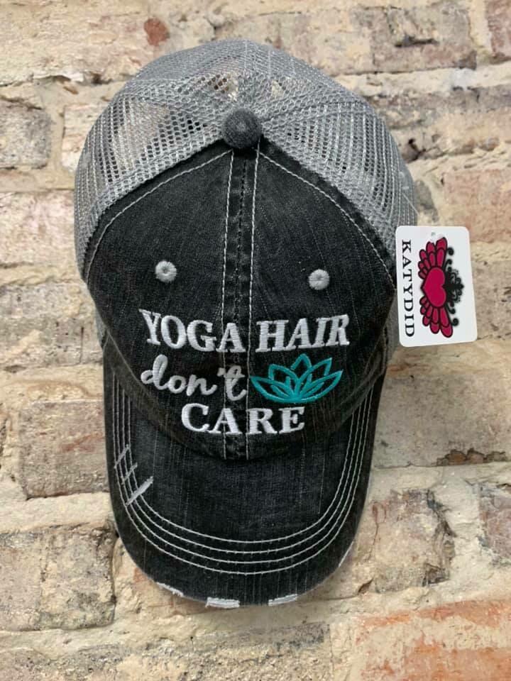 Hat - Yoga Hair Don't Care Trucker Hat