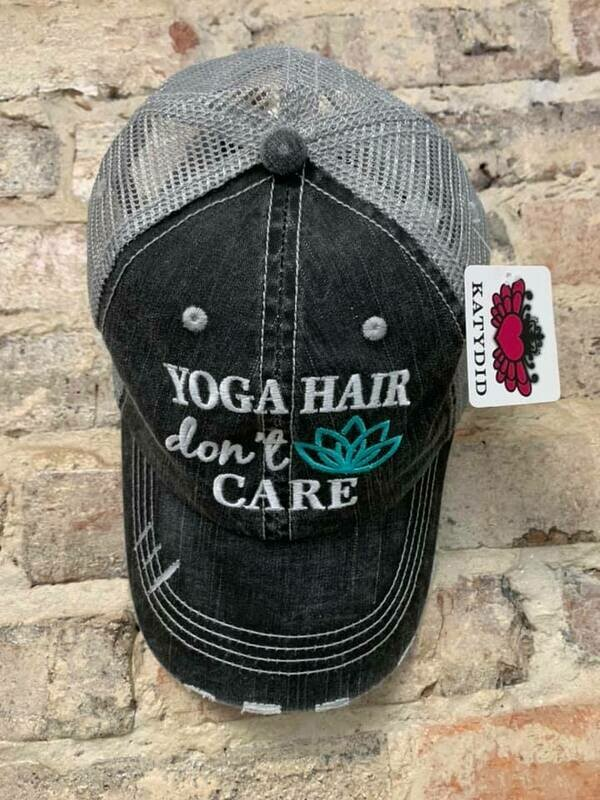 Hat - Yoga Hair Don't Care Trucker Hat