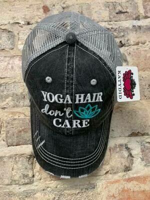 Katydid Hat-Yoga Hair Don't Care Trucker Hat