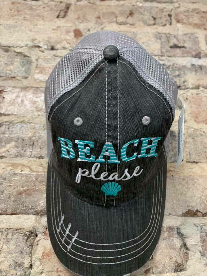 Hat - Beach Please Trucker Hat