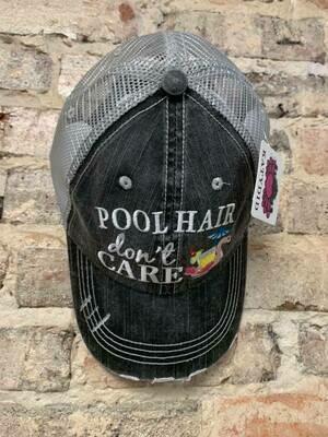 Katydid Hat-  Pool Hair Don't Care (SWAN FLOAT) Trucker hat