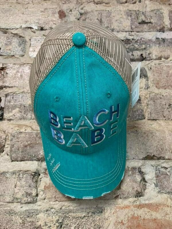 Hat- Beach Babe Trucker Hat Teal