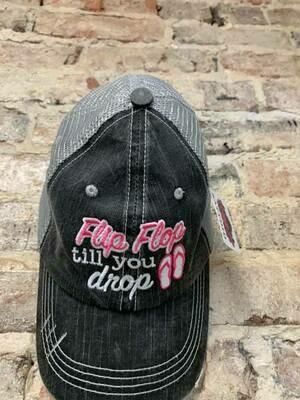 Katydid Hat- Flip Flop till you drop Trucker Hat GRY HPK