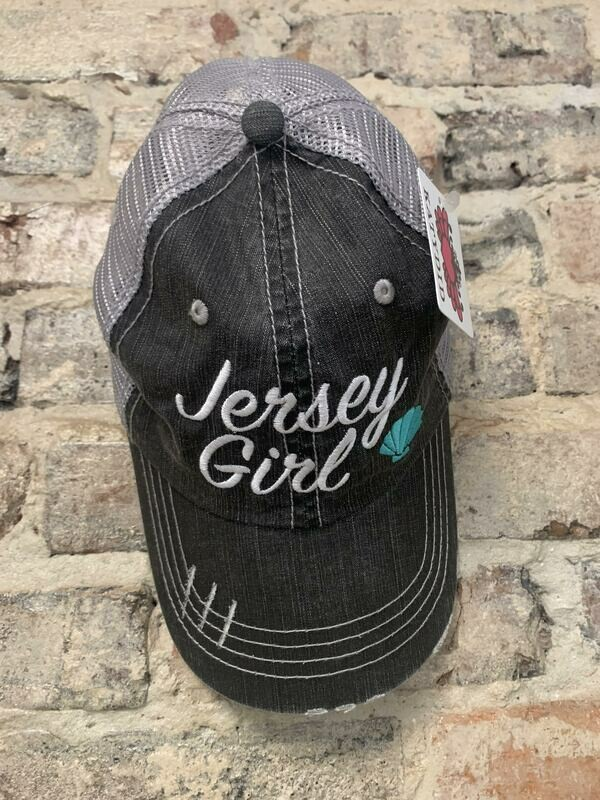 Hat - Jersey Girl (SHELL) GRY MNT Trucker Hat