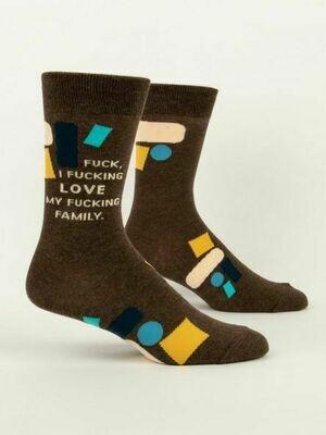 Blue Q Men's Socks - Fuck I Love My Family