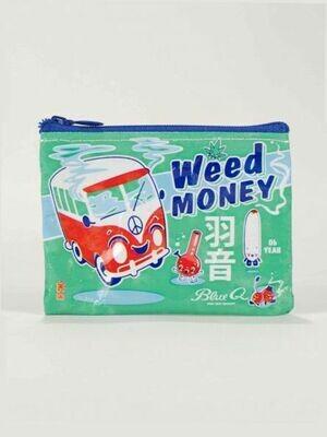 Blue Q Coin Purse - WEED MONEY