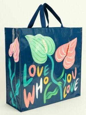Blue Q Tote Bags - LOVE WHO YOU LOVE SHOPPER