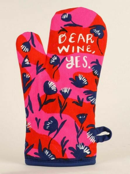 Blue Q Oven Mitt - Dear Wine, yes