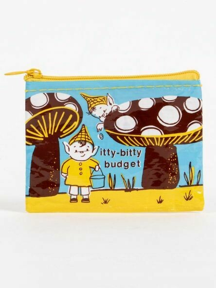 Blue Q Coin Purse - ITTY BITTY BUDGET