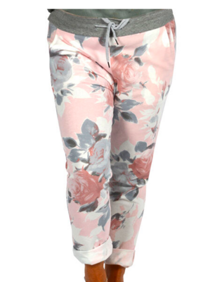 CLW - Pink Floral Jeans (One Size)