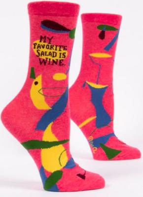 Blue Q Crew Socks-My Favorite Salad