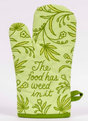 Blue Q Oven Mitt -Food Has Weed in it