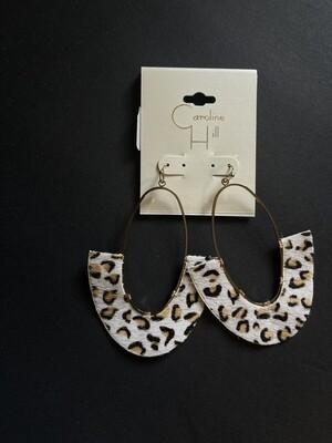 Caroline Hill - Earrings - Ivory Leopard