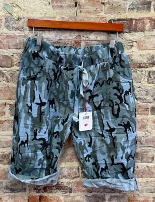 Lookmode - ONE SIZE Camo Shorts - Blue